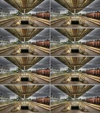 火车站站台背景视频