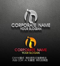h字母logo设计