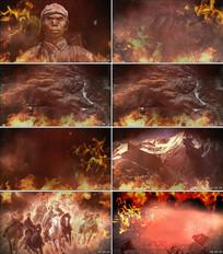 毛主席《七律长征》舞台背景视频