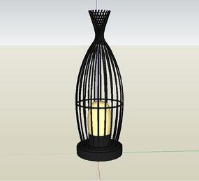 某园林景观灯素材su模型