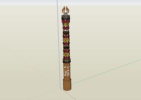 某园林景观灯柱设计su模型