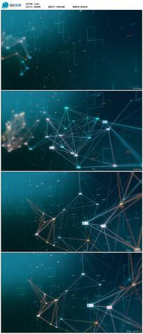网络科技大数据背景视频