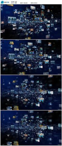 网络科技照片视频墙视频