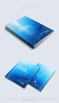 创意蓝色纹理封面设计