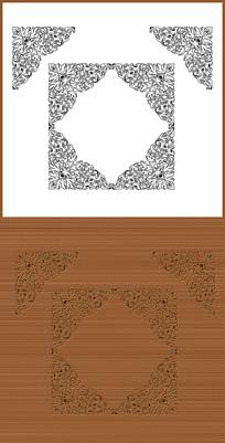 淡雅欧式花纹矢量图案