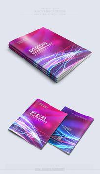 动感紫色时尚封面设计