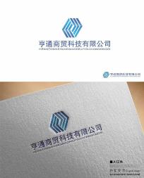 亨通商贸公司logo标识矢量源文件