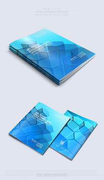 简约时尚蓝色封面素材