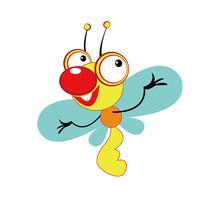 可爱的卡通插画小蜜蜂