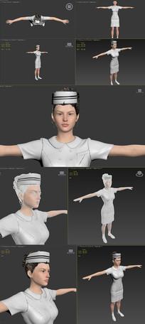 3dmax模型美女护士