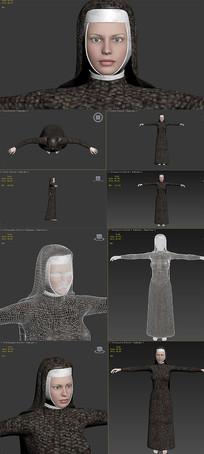 3dmax模型-修女