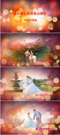 PR唯美婚庆婚礼相册展示模板