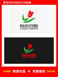 WZ字母ZW标志鲜花logo