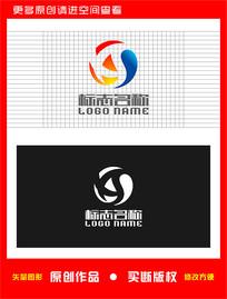 XAS字母标志太极logo