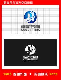 XH字母HX标志建筑logo