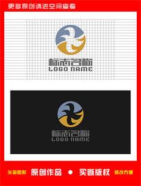 ZX字母XZ标志飞鸟logo