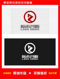 Z字母R标志帆船播放logo