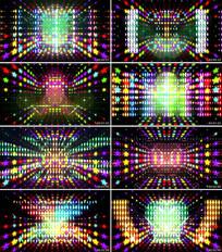 创意款式动感霓虹灯视频