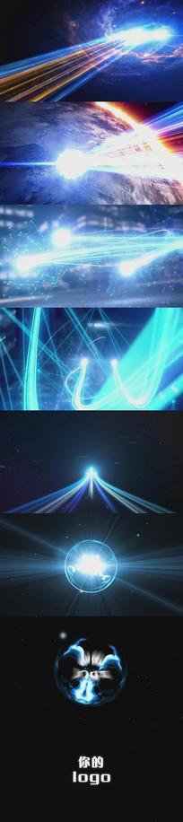 大气科技光线运动ae模板片头