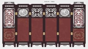 中式古典屏风隔断