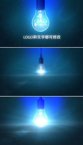 灯泡发光logo标志片头模板