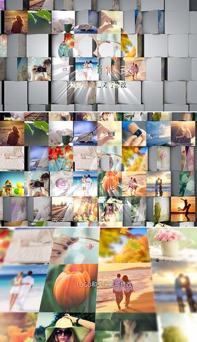 多图片展示照片墙片头模板  aep