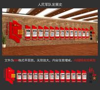 高端解放军发展史文化墙 CDR