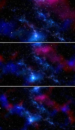 蓝色星空背景视频素材