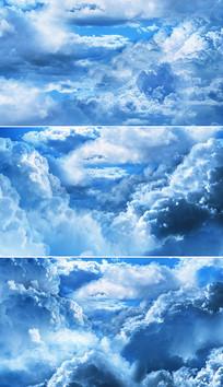 蓝天白云穿梭视频素材
