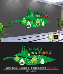 企业再生绿色环保企业文化墙