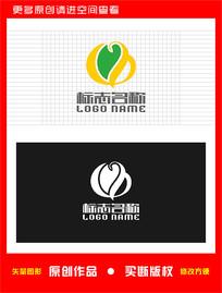 BQ字母QB标志绿叶logo