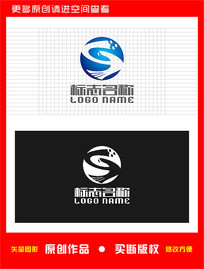 GS字母SG标志飞鸟logo