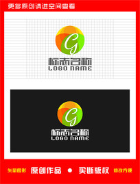 G字母标志食品logo