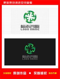MBW旋转标志X字母logo