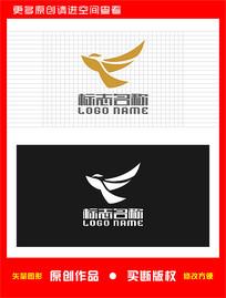 T字母TF FT飞鸟logo