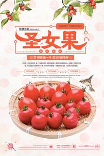 简洁水果圣女果海报设计