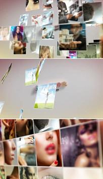 企业员工照片墙标志片头模板
