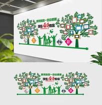 员工风采大树文化墙