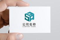 正方体字母logo