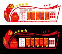 党员活动室党务公开栏文化墙