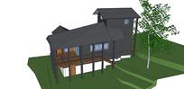 钢构架单体别墅