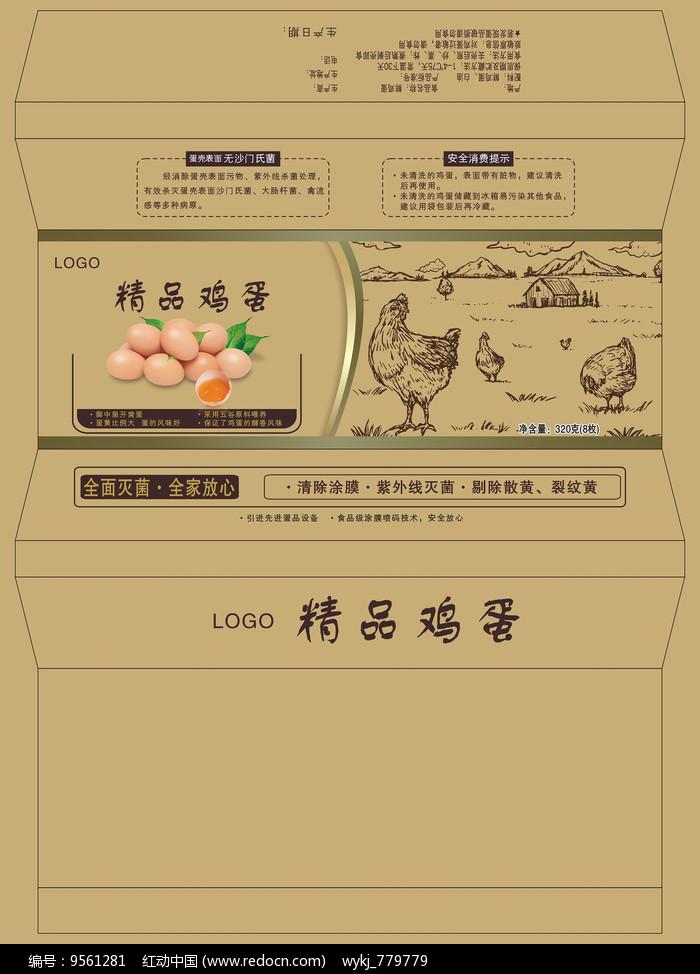 简约鸡蛋包装盒设计图片