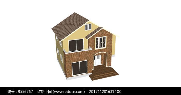 双层单体别墅图片
