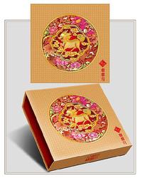 中秋味道月饼包装分层设计图案