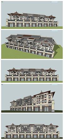 中式联排建筑体