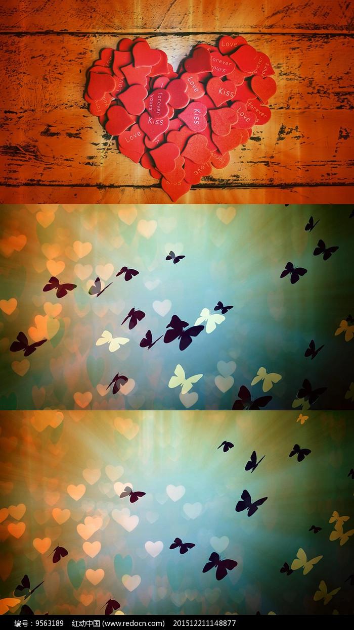 钢琴曲爱的纪念舞台背景视频