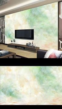 欧式大理石玉雕山水电视背景墙