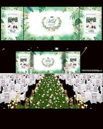 森系婚礼背景板