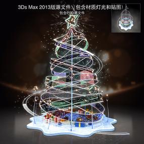 玻璃螺旋器材圣诞树美陈 max