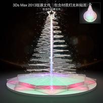 玻璃螺旋圣诞树